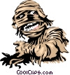 Vector Clip Art graphic  of a Cartoon Mummy