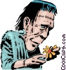 Vector Clipart image  of a Cartoon Frankenstein