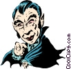 Cartoon Dracula Vector Clipart graphic