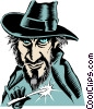 Vector Clipart graphic  of a Cartoon Jack the Ripper