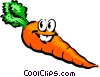 Cartoon carrot Vector Clipart picture