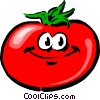 Cartoon tomato Vector Clipart illustration