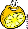 Vector Clipart illustration  of a Sliced Cartoon lemon