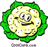 Cartoon cauliflower Vector Clipart illustration