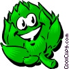 Vector Clip Art graphic  of a Cartoon artichoke
