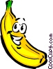 Vector Clip Art image  of a Cartoon banana