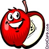Cartoon apple Vector Clip Art picture