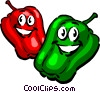 Vector Clipart picture  of a Cartoon peppers