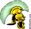 Vector Clip Art graphic  of a Roman centurion helmet