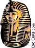 King Tut's mask Vector Clipart image
