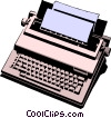 Typewriter Vector Clipart graphic
