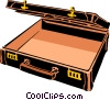 Vector Clip Art image  of a Open Briefcase