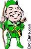 Cartoon Robin Hood Vector Clipart picture