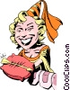 Vector Clipart graphic  of a Cartoon Maid Marian