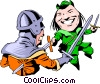 Cartoon Robin Hood Vector Clipart illustration