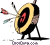 Vector Clipart graphic  of a Cartoon target