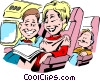 Vector Clip Art graphic  of a Cartoon Travel