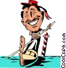 Vector Clipart graphic  of a Cartoon Venice gondolier