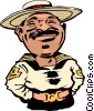 Vector Clipart picture  of a Cartoon Caribbean policeman