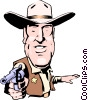 Cartoon sheriff Vector Clipart illustration