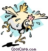 Mad as a wet hen Vector Clipart picture