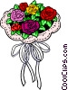 Vector Clip Art graphic  of a Bouquet of roses