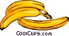 Vector Clip Art graphic  of a Three Bananas