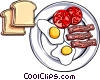 Vector Clipart graphic  of a Breakfast
