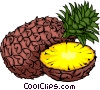 Vector Clipart image  of a Sliced Pineapple
