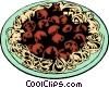 Spaghetti & meatballs Vector Clip Art graphic