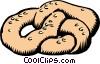 Vector Clip Art image  of a Pretzel
