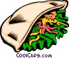 Vector Clipart graphic  of a Pita sandwich