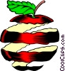 Vector Clipart illustration  of an Apple peel