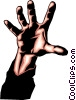 Vector Clip Art graphic  of a Hand reaching