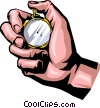Hand with stopwatch Vector Clip Art graphic