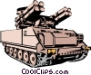 Vector Clip Art picture  of a Mobile rocket launcher