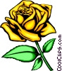 Yellow rose Vector Clip Art picture