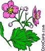 Vector Clipart illustration  of a Purple flowers