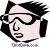 Vector Clipart image  of a Woodcut people design