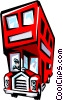 Double-decker buses Vector Clip Art graphic