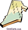 Vector Clip Art picture  of a Rhode Island state map