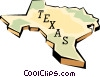 Vector Clipart graphic  of a Texas state map
