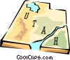 Utah state map Vector Clipart illustration