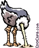 Vector Clipart graphic  of a Ostrich