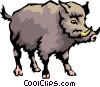 Vector Clip Art graphic  of a Wild boar