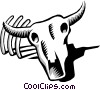 Cow skull Vector Clip Art picture