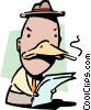 Vector Clipart graphic  of a Queer as a duck