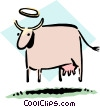 Sacred cow Vector Clipart picture