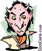 Vector Clip Art image  of an An ugly devil