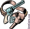 Vector Clipart graphic  of a Old West Guns and holster